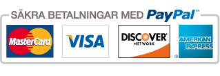 Betala säkert med ditt kreitkort via Paypal